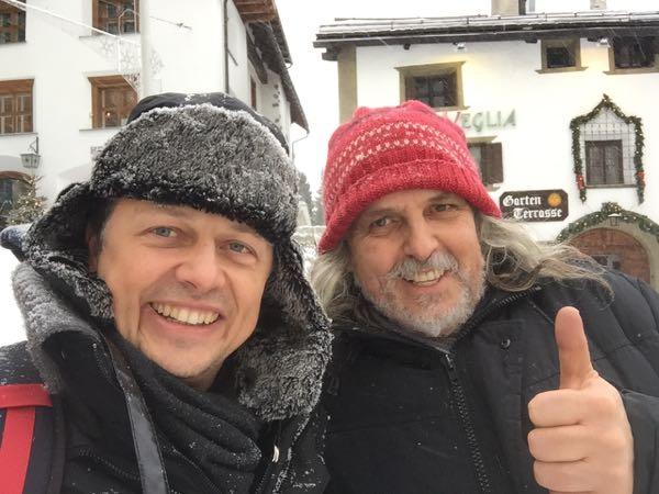Erfolgstrainer Ernst Crameri mit Roland Hamm bei der Jahresklausur 2016