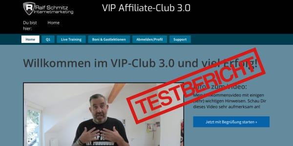 Ralf Schmitz VIP Affiliate Club 3.0 Erfahrungen und Testbericht