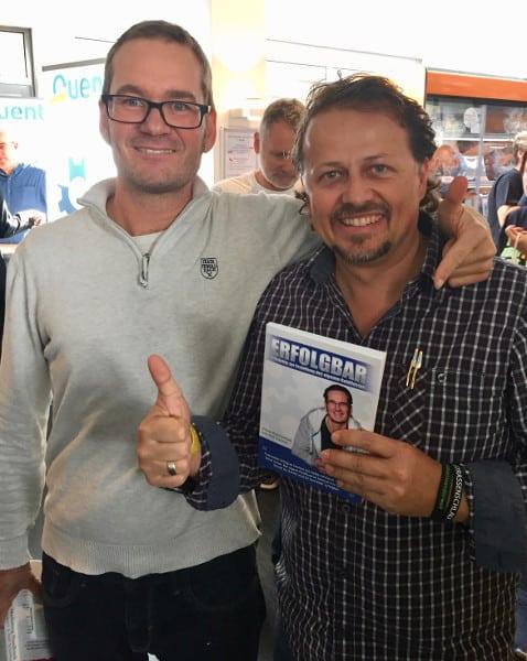 Florian Schoel und Roland Hamm mit dem Buch Erfolgbar