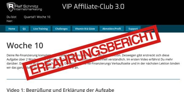 [Erfahrungsbericht] Vip Affiliate Club 3.0 nach 10 Wochen inkl. 500 € Rabatt